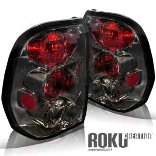 02 09 CHEVY TRAIL BLAZER REAR TAIL LIGHTS SMOKE PAIR