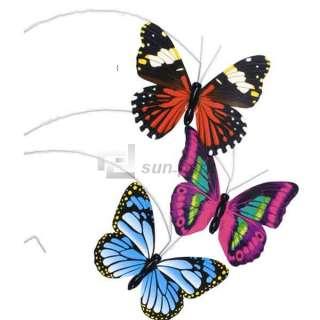 New Mini Solar Powered Flying Butterfly LED Light Toys S
