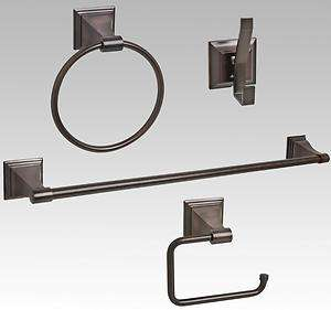 Oil Rubbed Bronze Bath 24 Towel Bar Accessory Set