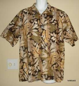 TORI RICHARD Cotton Lawn Hawaiian Camp Shirt XL