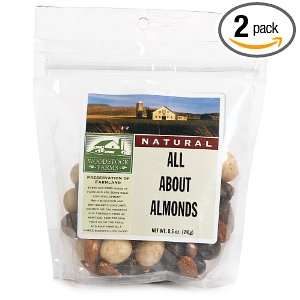 Woodstock Farms All About Almonds, 8.5 Ounce Bags (Pack of 2)