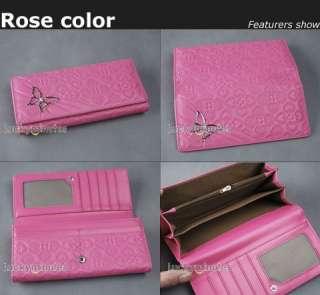 pcs in 4 Butterfly Heart Lady Long Wallet Purse Bag