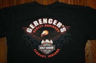 HARLEY DAVIDSON Motorcycles Gerencers Elkhart Indiana black T SHIRT