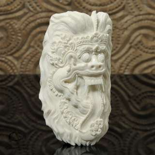 Mythical Balinese Rakwana Carved Buffalo Bone Sculpture