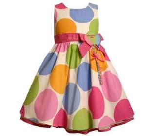 Boutique Bonnie Jean Girls Polka Dot Balloon Birthday Party Dress size
