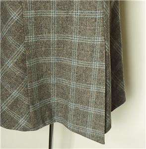 Banana Republic Wool Gray Plaid Skirt Made in Italy Very Nice