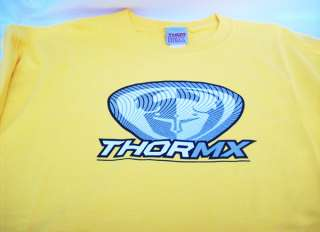 Thor MX T Shirt Gold w/ Silver White Logo New XL