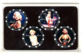 Marilyn Monroe Limited Collector Poker Chip Set Gift *