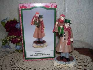 CHRISTMAS CAROL FIGURE BOB CRATCHIT & TINY TIM