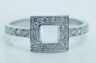 Tiffany&Co Platinum Diamond Ring w/ Pouch Retail $3000 Designer Signed