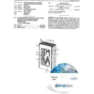 NEW Patent CD for GAS DISCHARGE TUBE WITH COLD CATHODE SUITABLE FOR