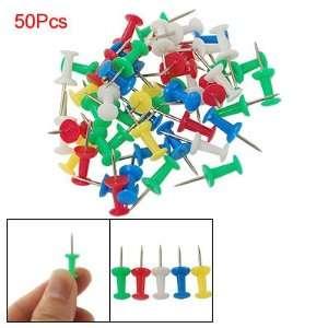 Five Color Plastic Head Metal Pin Thumbtack 50 in 1