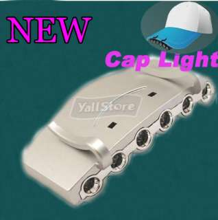 LED White Light Baseball Cap/Hat Clip on Flashlight