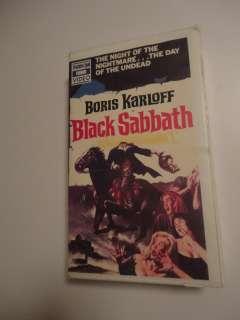 Black Sabbath Bava Karloff rare Thorn/EMI horror video Wizard Unicorn