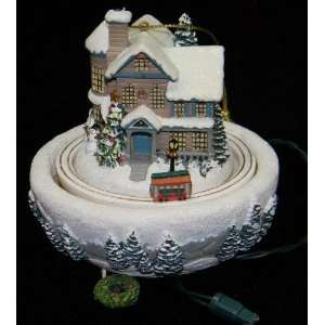Thomas Kinkade Moonlit Sleigh Ride Animated Christmas Tree Ornament by