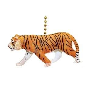 Big Cat Safari Siberian Bengal Tiger Ceiling Fan Light
