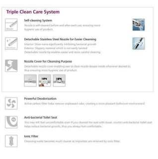 Novita BD RA779 Remote Control Bidet Toilet Seat Dryer+Filter 5EA