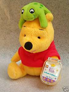 DISNEY WINNIE POOH & Frog STAR BEAN Fisher Price TAG