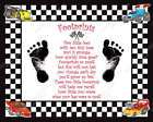 Race Car Theme Babys Footprints with Poem