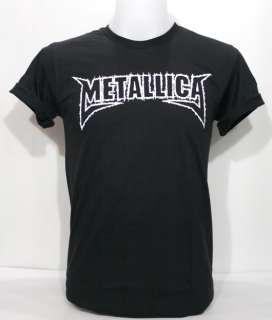 METALLICA T Shirt Logo Street Heavy Metal Hard Rock S L