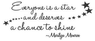 IS A STAR Vinyl Wall Quote Decal Home Decor Art Marilyn Monroe Quotes