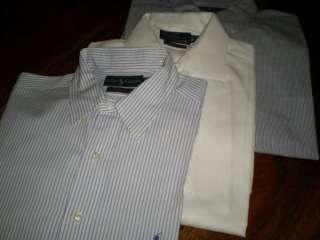 762 Mens Ralph Lauren Oxford Polo Shirt Lot of 7 XL 17 17.5 Dress