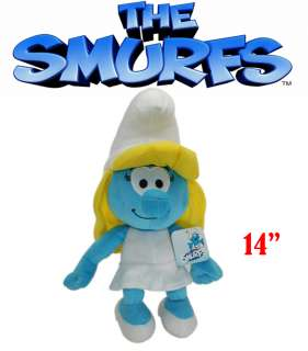 SMURFETTE THE SMURFS MOVIE 2011 SOFT PLUSH TOY DOLL 14 INCHES Super