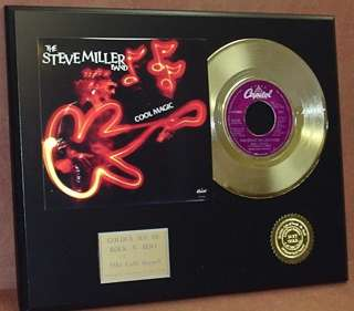 Steve Miller Band 24k Gold Record Limited Edition Music Gift Only 500