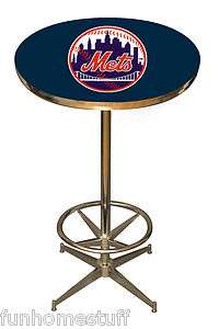 NEW YORK METS SPORTS PUB HOME BAR GAME ROOM TEAM PARTY TABLE