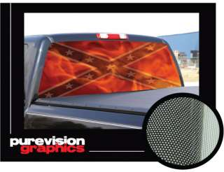 DIXIE REBEL FLAG 16x54 Rear Window Graphic suv truck