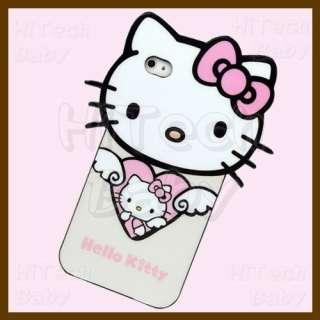KITTY Angel Heart Semi soft Die cut Case Cover for iPhone 4