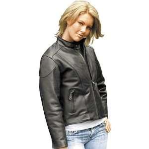 River Road Race Womens Leather Motorcycle Jacket Black XL Automotive