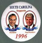 1996 SOUTH CAROLINA SUPPORTS BOB DOLE / KEMP PIN, PINBACK
