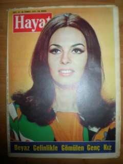 French Actress Michelle Mercier Turkish Magazine Hayat