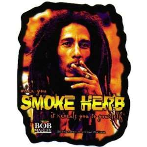 Bob Marley   Smoke Herb Decal   Sticker: Automotive