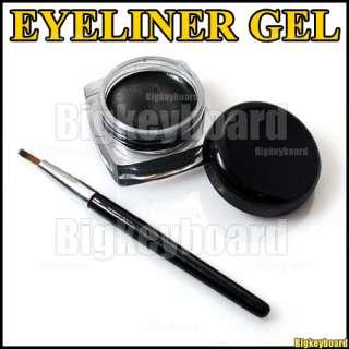 Black Waterproof Eye Liner Eyeliner Gel Makeup Brush