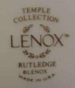 LENOX RUTLEDGE FIVE PIECE PLACE SETTING /S NEW MINT CONDITION
