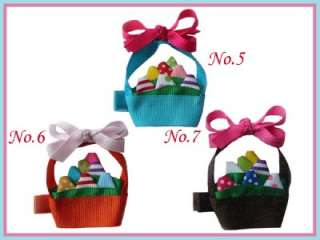 18 Girls Hair Bow Clip Lily Egg jellyfish whale owl