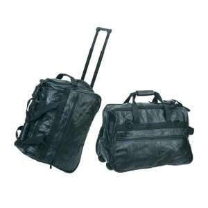 Brand New 20 Genuine Leather Wheeled Leather Luggage Travel Bag 20 x