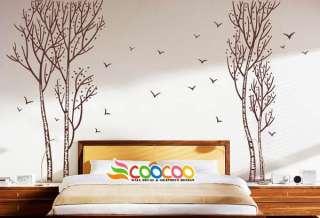 Wall Decor Decal Sticker vinyl large birch tree trunk