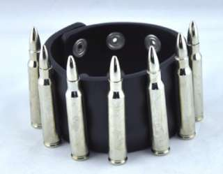 BULLET WRISTBAND BLACK METAL DEATHROCK PUNK GOTHIC ROCK