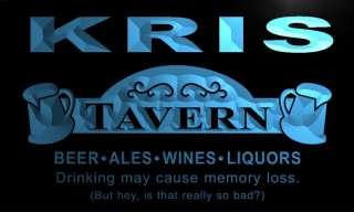 px645 b Kris Tavern Wine Ale Bar Beer Neon Sign