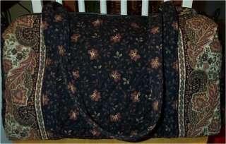Vera Bradley Retired Rare Black Walnut Sport Duffel Bag