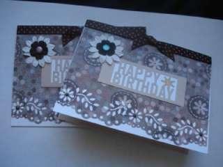 Lot 2 Handmade Birthday Cards Stampin Up Martha Stewart