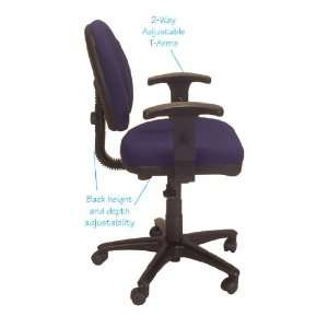 Office Master BC42 BR5 TASK CHAIR WITH ADJUSTABLE ARMS