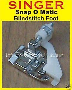 SINGER Sewing Snap O Matic Blindhem Presser Foot Feet