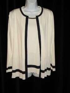 MISOOK White Black Tank Top & Jacket Set Size XS
