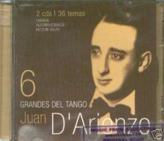 JUAN D' ARIENZO, GRANDES DEL TANGO – 2 CD SET. CANTAN ALBERTO