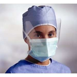 Chamber Style Surgical Face Mask with Eyeshield Qty 100