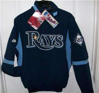 Tampa Bay Rays MAJESTIC THERMABASE JACKET Lg NWT